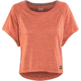 super.natural Motion Peyto Shortsleeve Shirt Women orange